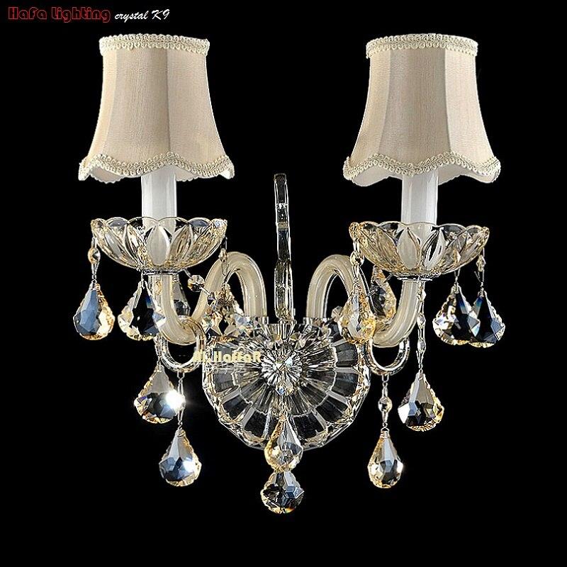 Lâmpadas de Parede parede de cristal luxo luz Direção da Sombra : para Cima