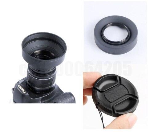 2 в 1 72 3-в-1 3-ступенчатый складной резина линзы бленда + линзы кепка крышка для жестяная банка и n nik и n s и ny pentax DSLR камера