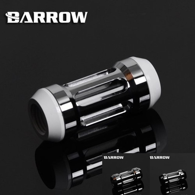 """White,Black,Silver Barrow new bright silver G1/4"""" double inner tooth filter chromium water cooling fittings GLA-TLB53"""