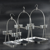 Stainless Steel Parrot Stand Holder / Bird Cage Shelf Rack Contains Bangle portable Decorativas Hot Sale