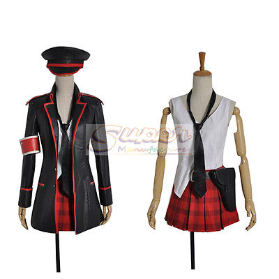 DJ DESIGN Anime VOCALOID Hatsune Miku Concert Army Military COS Clothing Cosplay Costume