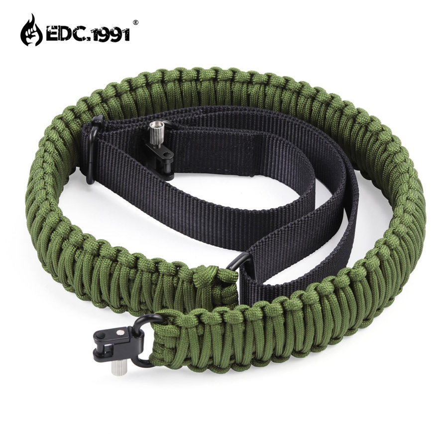 EDC.1991 Paracord Gun Rifle Sling with Both Swivels OldShark 2 Point Adjustable 550 Strap for Hunting Camping Outdoor Activities seac sub sting spear gun with sling aluminum finish
