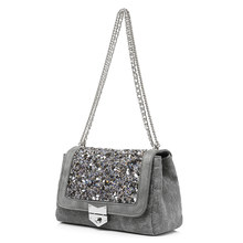 LOVEVOOK chain shoulder bag female fashion canvas handbags women famous brands messenger bags with high quality diamonds(China)