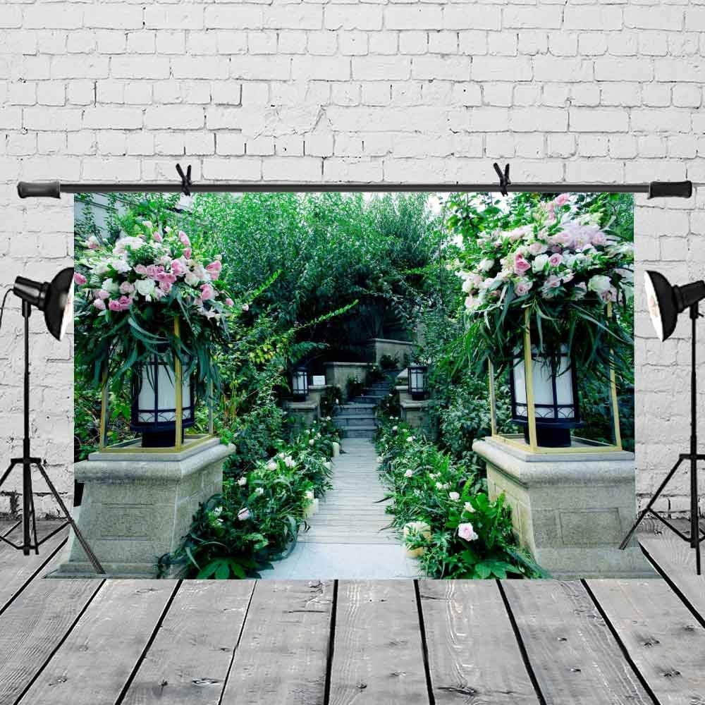 7x5ft Green Backdrop Lush Greenery Trail Photography Backgroud and Studio Photography Backdrop Props in Photo Studio Accessories from Consumer Electronics