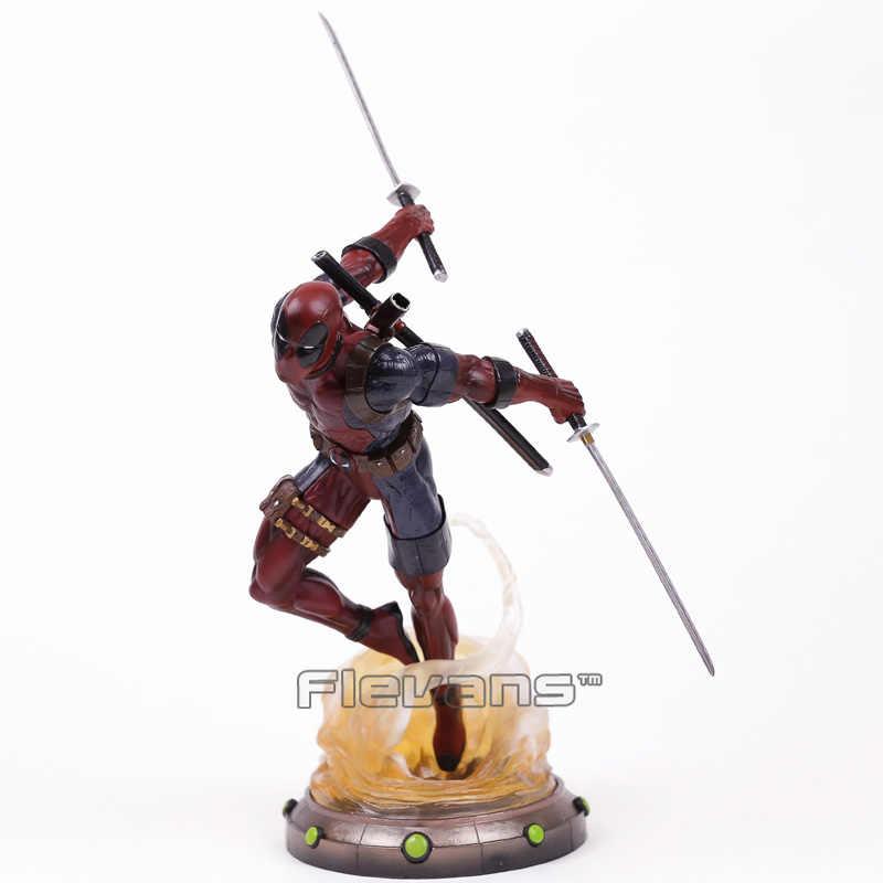 Алмазные игрушки Marvel галерея Дэдпул статуя ПВХ фигурка Коллекционная модель игрушки 35 см