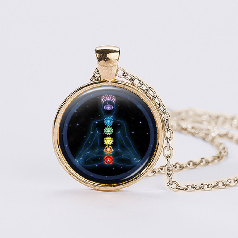 Chakra yoga pendants necklaces jewelry om healing balancing chakra yoga pendants necklaces jewelry om healing balancing statement necklaces chain necklace online shopping india in pendant necklaces from jewelry mozeypictures Images