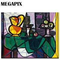 MEGAPIX ספרדית אמנות קישוט קיר הדפסת בד אגרטל קערת פירות פבלו פיקאסו