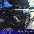 One-Stop Shopping para Toyota Fortuner 2015-2017 Daytime Running Luz LED DRL para o novo fortuner Lâmpada Automotiva acessórios