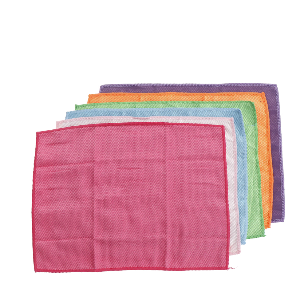 10pcs Microfiber Car Washing Cleaning Cloth Towel 30*30cm Car Waxing Polishing Drying Detailing Kitchen Housework Towel 10c06 Sponges, Cloths & Brushes Car Wash & Maintenance