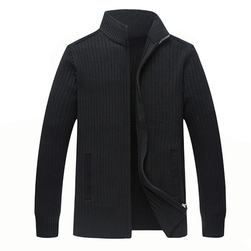 Home Winter Merino Wool Sweaters Men Big Size 4xl Mens Warm Hand Knit Zipper Cardigan-male Solid Casual Clothing Jacket Zz103 Good Taste