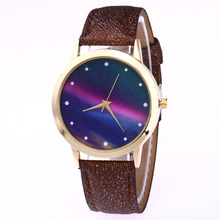 Fashion Casual Women's Quartz Wristwatch Leather Women's Bracelet Watches Lover's Watch Reloj Mujer Aurora Polaris Creative Gift