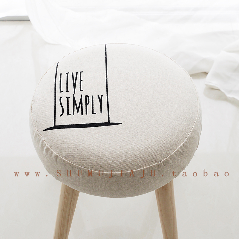 Top Sale Taburetes Chair Pouf Poire Simple Literary Home Furnishing Huanxie Small Stool Wooden Bench Board Sofa Bag Mail Modern xxxg short board stool for shoes for children and adults with small cloth wood chair sofa stool small wooden bench cloth art