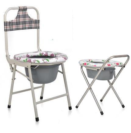 Portable Folding Chairs Urinate Potty Chair Toilet Toilet Elderly Patient  Mobility Pregnant Women