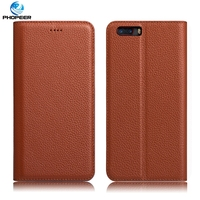 Original PHOPEER Luxury Retro Genuine Leather Case For ZTE Nubia M2 Mobile Phone Stand Filp Cover