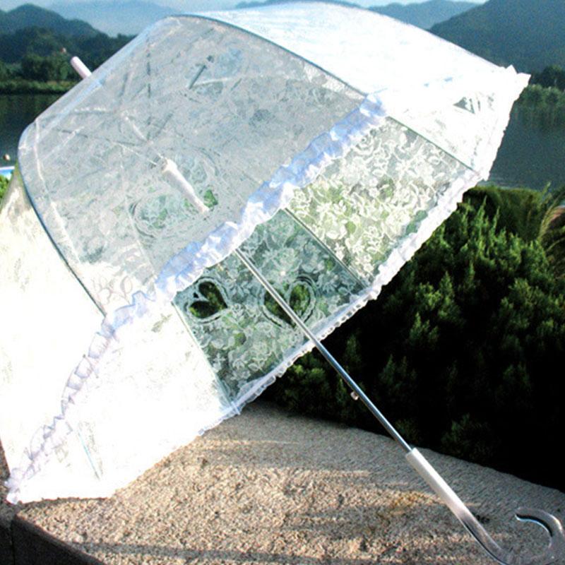 Weißer spitze regenschirm bogenförmige dekoration regenschirm - Haushaltswaren - Foto 1