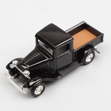 1:43 Scale mini Yat ming jalopy 1934 the Ford Pick UP truck van diecast model car toy autos miniatures hobby for children black(China)
