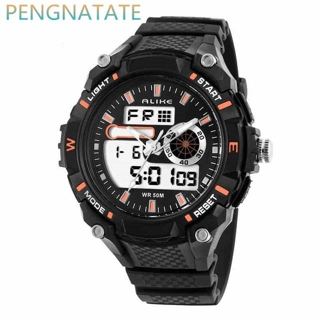 69017c7b7224 Moda ALIKE Deportes Marca Relojes Hombres Digital relojes de Alarma a  prueba de Golpes Al Aire
