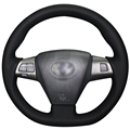 Black Artificial Leather Car Steering Wheel Cover for Toyota Corolla 2011 2012 2013 RAV4 2011 2012