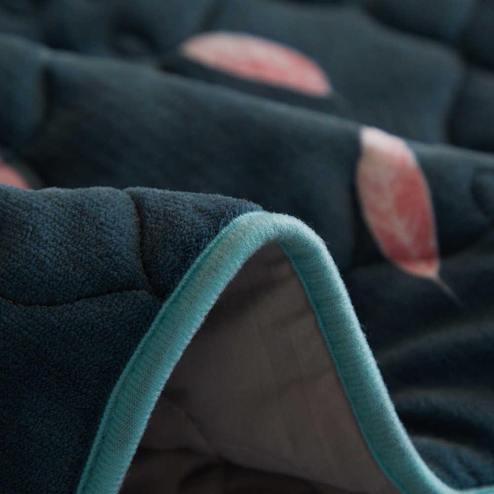 2018 Flamingo Dark Green Print Quilting 3pc Bedspread Set Pillowcases Microfiber Polyester Stitching Bedlinens Coverlet Bedsheet