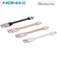 MOMAX Кожаный USB Cable MFI для iPhone X 8 7 6 6s плюс 5S iPad быстрой зарядки данных адаптер Зарядное устройство освещение Мобильный телефон кабели