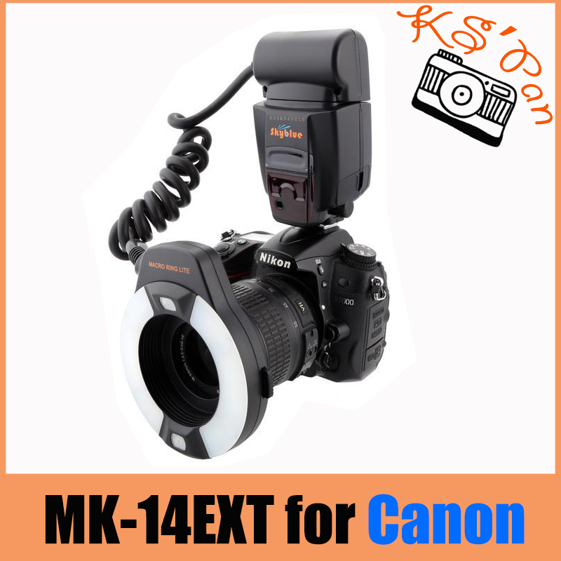 Meike MK-14EXT ETTL Macro ring flash AF assist lamp For Canon 70D 7DII 550D 700D mini flash light meike mk320 mk 320 mk320 c gn32 ettl speedlite for can 60d 7d 6d 70d dslr