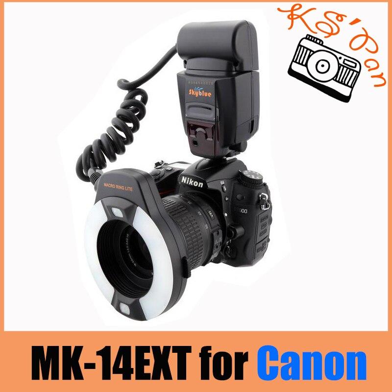 Meike MK-14EXT Macro ring flash lampada di aiuto AF Per Canon 70D ETTL 7DII 550D 700DMeike MK-14EXT Macro ring flash lampada di aiuto AF Per Canon 70D ETTL 7DII 550D 700D