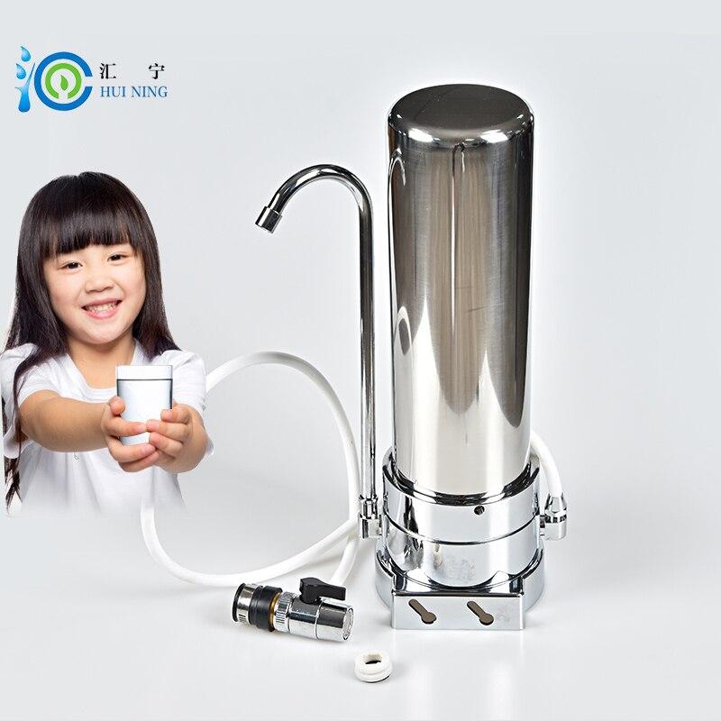 Главная Картридж кран Нажмите кран фильтр ионизатор воды ведущих воды из нержавеющей стали Очиститель фильтр для воды для кухни кран