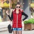 Высокое качество 2016New осень зима короткая конструкция жилет верхняя одежда женский жилет дамы вниз ватные куртки дешево оптовая продажа