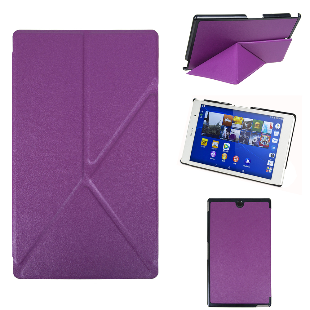 PU Leather Cover Stand Transformer Case for Sony Xperia Z3 Tablet Compact 8 inch With Magnet +Screen Protector Film + Stylus Pen