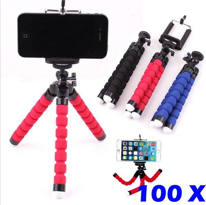 100 шт. Универсальный гибкий Камера штатив Осьминог Гора Клип телефон стенд держатель для <font><b>iPhone</b></font> Samsung HTC Xiaomi Huawei