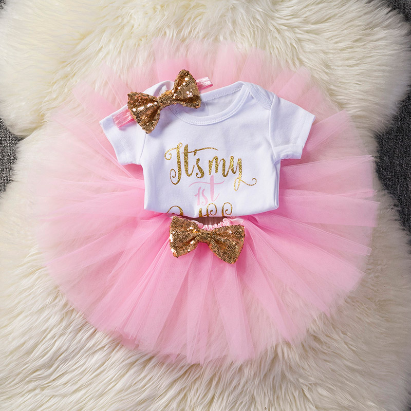 My Little Girl 1st Birthday Outfits Sets Tutu Pettiskirt
