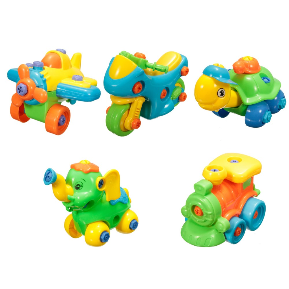 JIMITU Disassembly Assembly Nut Building Toy Kit Develop Learning Fun Intelligence Kids Educational Toy With Clamp&Screwdriver