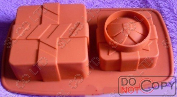 christmas Silicone 2 gift box  shapes  Cake Mould chocolate mould Baking Cupcake Mold Pan cake tool