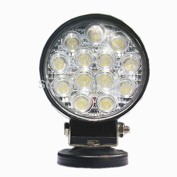 2pcs offroad round 4 inch led work light 12V Spot Flood Beam 42w for automotive day driving light Fog Lamp