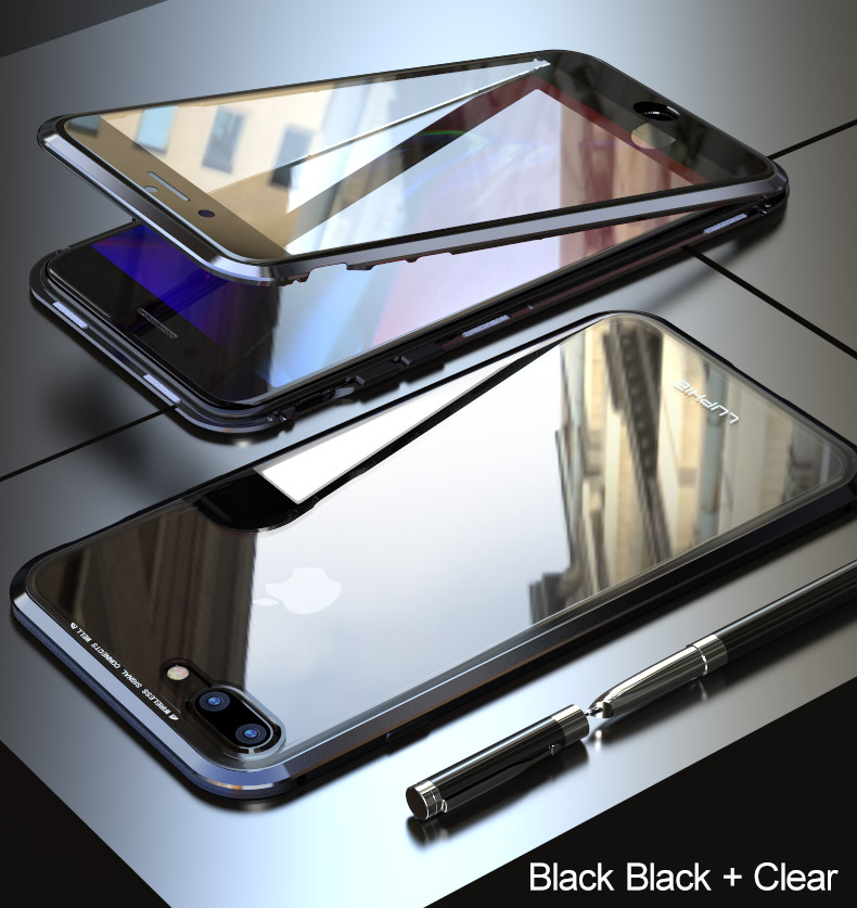 LUPHIE 360 Full Magnetic Case For iPhone X XS Max XR 8 7 Plus glass case (14)