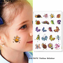Nu-TATY Flash Little Bee Child Temporary Tattoo Body Art Flash Tattoo Stickers 15x10cm Waterproof Henna Styling Wall Sticker