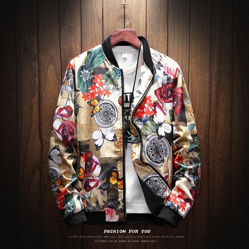 6 STYLE Fashion Spring 2019 New Print Casual Jacket Mens Japanese Streetwear Designer Clothes Plus ASIAN SIZE M-XXXL 4XL 5XL