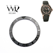 Rolamy Wholesale New Popular Replacement Gray/Black Watch Pure Ceramic Bezel Insert For 38mm 116655 YACHTMASTER OYSTERFLEX