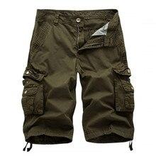 Fünfte kurze männer baumwolle sommer neue casual fashion kleid multi-tasche camouflage shorts Freies verschiffen 29-40 ohne gürtel
