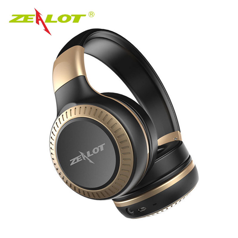ZEALOT B20 Stereo Bluetooth4.1 Headset HiFi Super Bass Wireless Headphone Handsfree With Microphone For iOS Android Phone rock y10 stereo headphone earphone microphone stereo bass wired headset for music computer game with mic