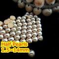 Lt. café Color de 1.5 mm ~ 25 mm todo el tamaño elección ABS posterior plana redonda de la media perla perlas, imitación de plástico media perla de perlas