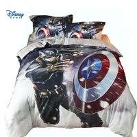 disney Captain America duvet cover set queen size twin full bed linens Avengers comforter bedding sets boy room decoration sheet