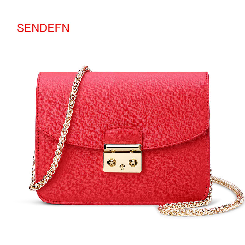 SENDEFN Brand Quality Leather Women Messenger Bags Fashion Women Shoulder Bags Ladies Satchels Women Handbags Crossbody sendefn brand women handbags fashion lock flap shoulder bag ladies mini serpentine messenger bags female daily clutches gift