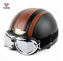ABS Ретро Хелли стиль YOHE Мотоциклетный шлем летом Половина лица мотоцикл шлем YH-998 отправить очки 7 цветов размер M, L, XL, XXL