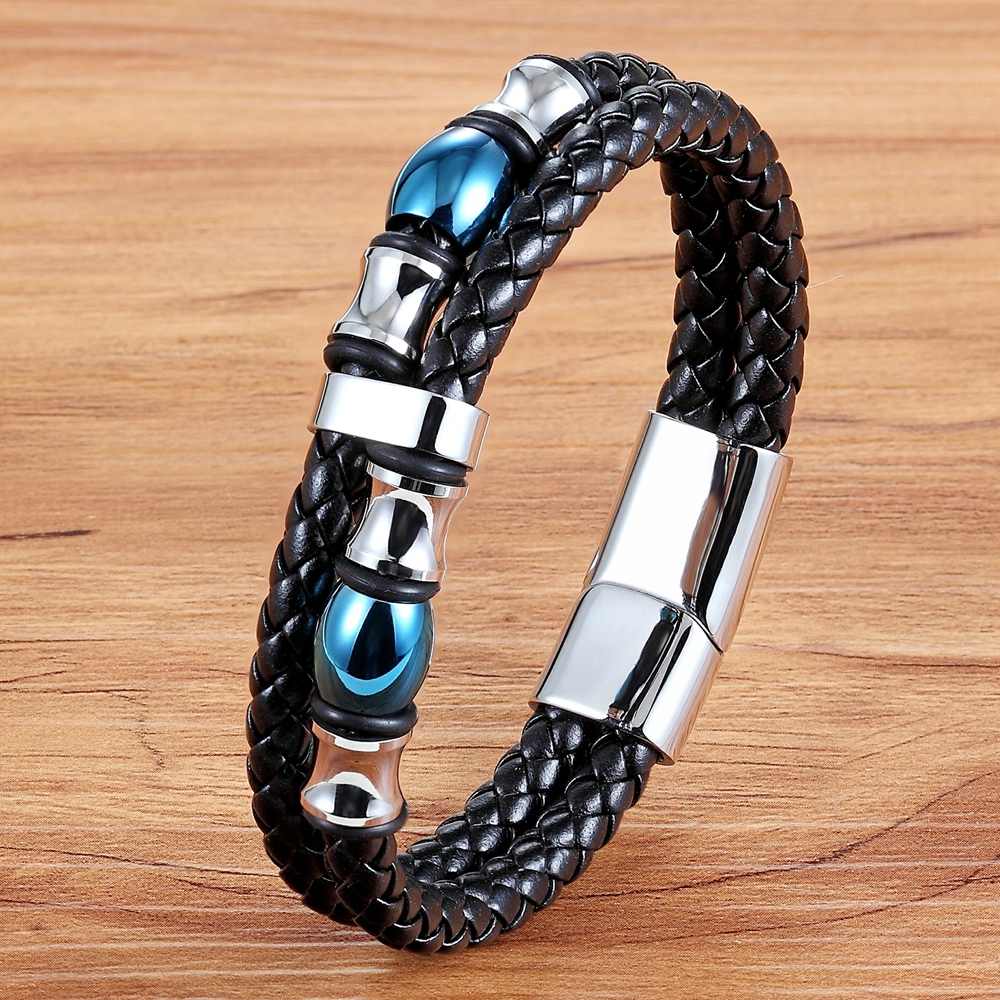 TYO 2020 Special Design Double Layer Genuine Leather Bracelet For Men Women Commemorative Significance Jewelry For Birthday Gift