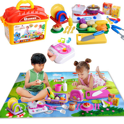 Christmas Newyear Play Toy Kitchen Set Baby Kids Puzzle Toy Learning