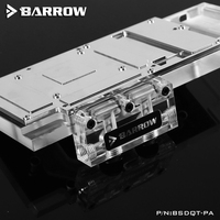Barrow BSDQT-PA Multifunctional Acrylic Change Direction L-type GPU Block Bridge  For Barrow's GPU Water Block Refit