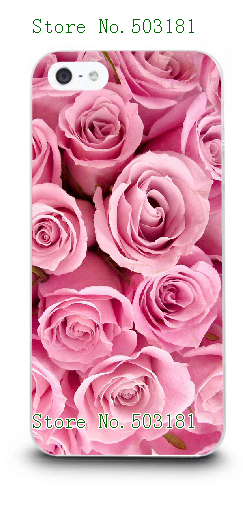 18Patterns 2016 Popular Colorful Brilliant Rose Flowers white hard cases cover for IPHONE 5 5s free shipping