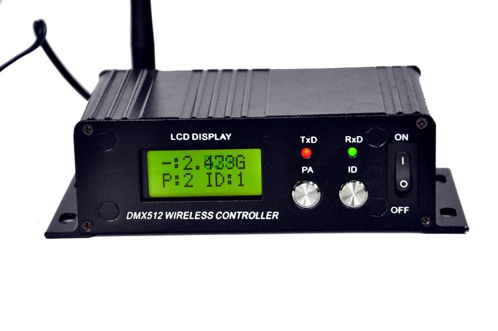 Fedex Бесплатная доставка 4 шт./лот ЖК-дисплей дисплей Беспроводной DMX512 передатчики приемник для Светодиодный индикатор DJ освещение пульта ди...