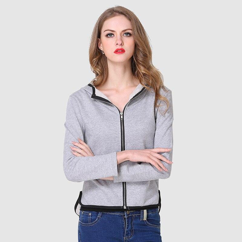 Femmes Vêtements 2018 Winterhoodies Shirts Décontractés Zipper À Capuche Culture De la Mode À Capuche Manches Longues Sweat Shirts